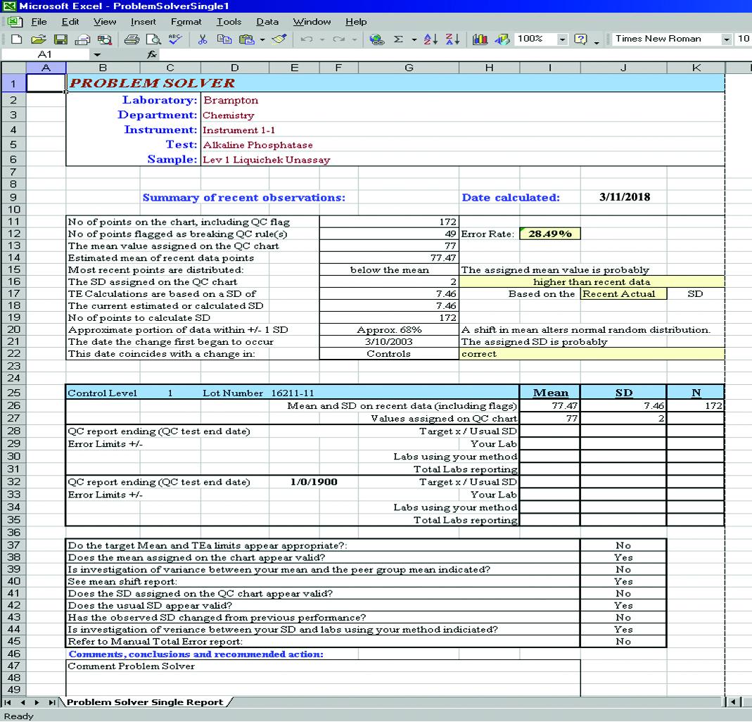 Problem Solver Report